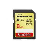 SanDisk Extreme Plus SDHC 8 GB 80 MB/s class10, UHS1