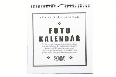 Fotokalendář 2016 bílý na fotografie 10x15cm (na výšku),13x18cm (na šířku) - Kliknutím zobrazíte detail obrázku.