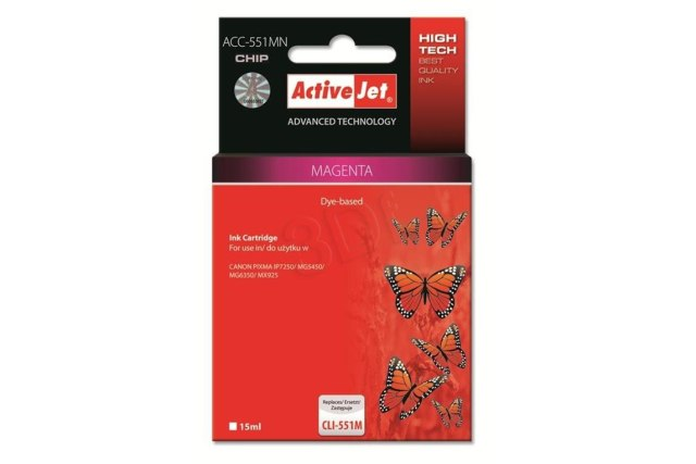ActiveJet CLI-551 Magenta růžová cartridge 15ml s čipem