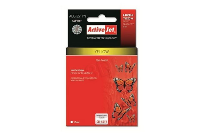 ActiveJet CLI-551 Yellow žlutá cartridge 15ml s čipem