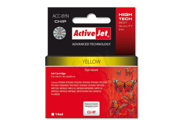 ActiveJet CLI-8 Yellow cartridge žlutá