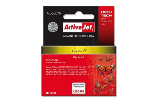 ActiveJet CLI-526 Yellow (s čipem)