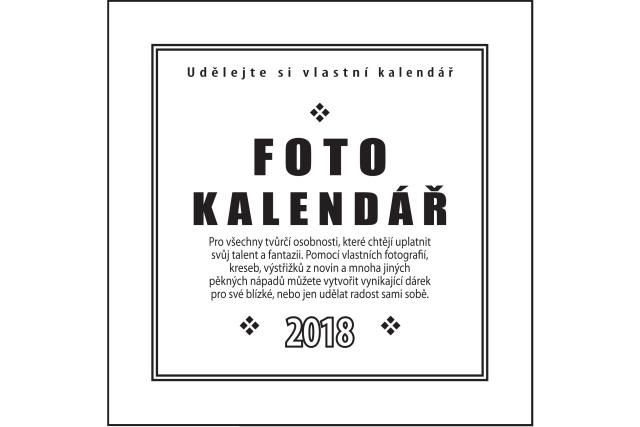 Fotokalendář 2018 bílý na fotografie 10x15cm(na výšku),13x18cm (na šířku) - Kliknutím zobrazíte detail obrázku.