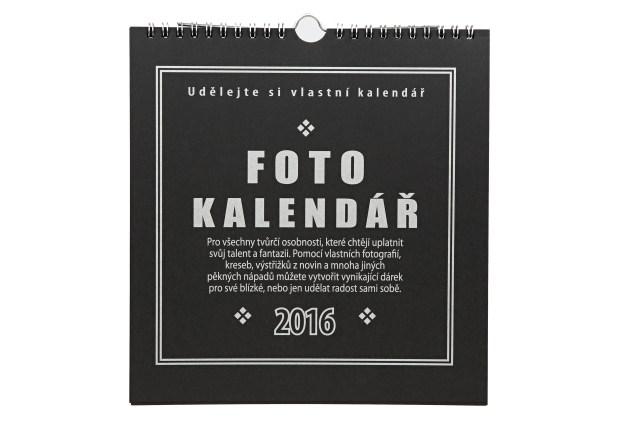 Fotokalendář 2016 černý na fotografie 10x15cm (na výšku),13x18cm(na šířku)