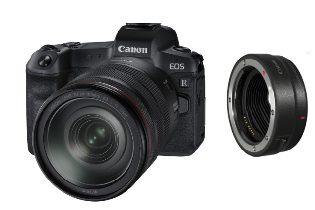CANON EOS R + RF 24-105/4L IS USM + Lens adapter EF-EOS R