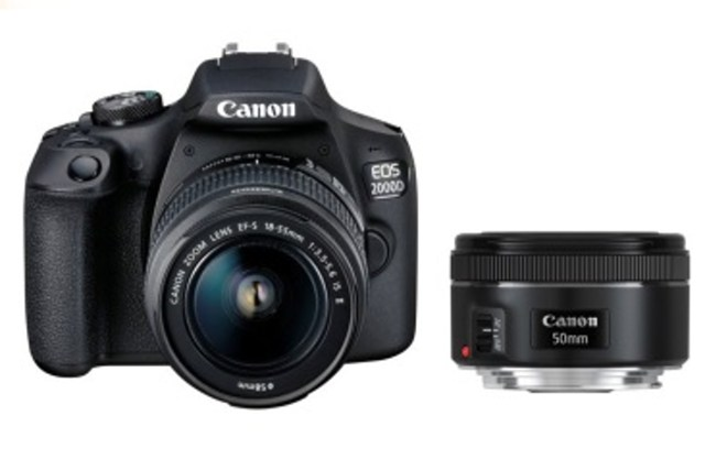 CANON EOS 2000D + 18-55 IS + EF 50/1.8 STM