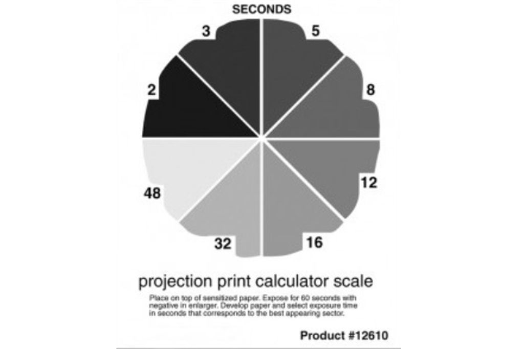 DELTA PHOTO SUPPLIES Print Calculator Scale - expoziční klín 12x14,5cm