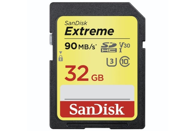 SanDisk Extreme SDHC Card 32 GB 90 MB/s Class 10 UHS-I U3 V30