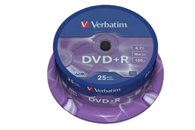 VERBATIM DVD+R (25-Pack) Spindle/General Retail/16x/4,7GB