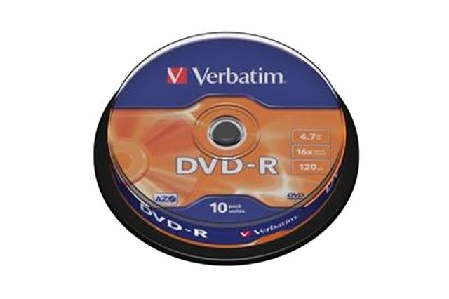 VERBATIM DVD-R (10-Pack) Spindle/General Retail/16x/4,7GB