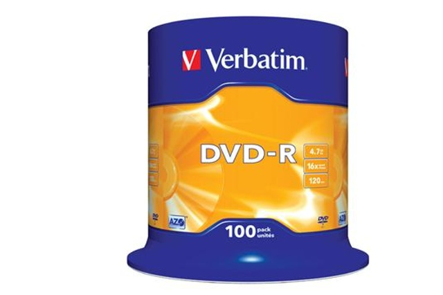 VERBATIM DVD-R (100-Pack) Spindle/General Retail/16x/4,7GB